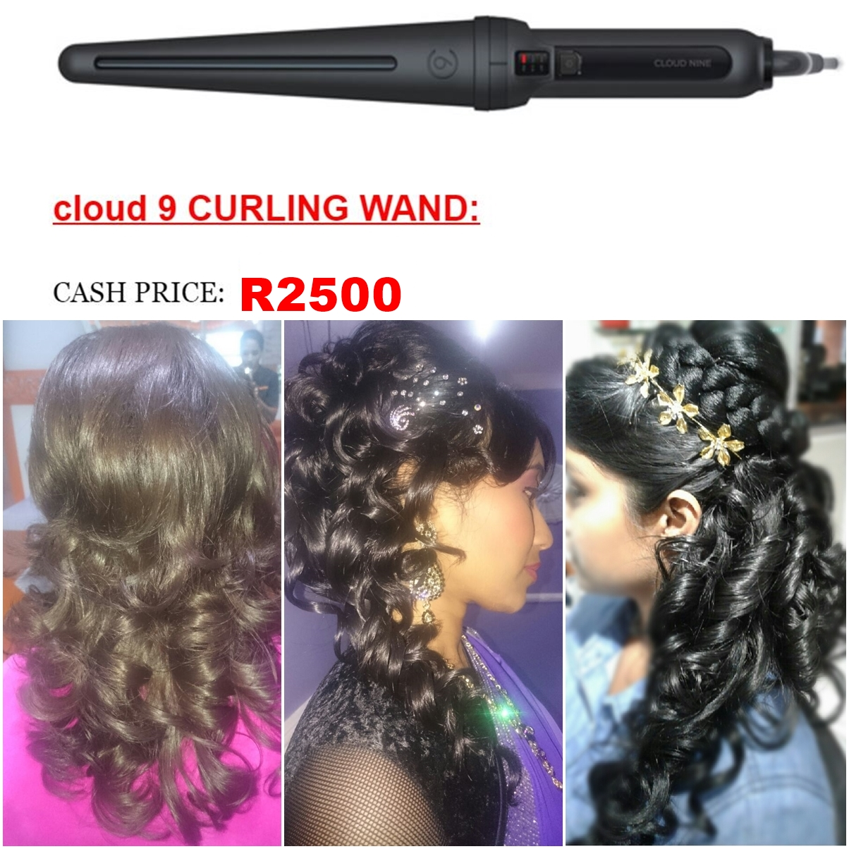 SALON CLEO FOR CLOUDNINE CURLING WAND..DO OR MAKE CURLS EFFORTLESSLY AT SALON CLEO 0315009998